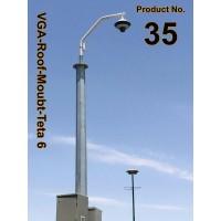 براکت تتا سايز 6 ( دکل / بام / لبه ساختمان )  VGA-Roof-Mount