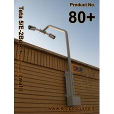 80+ براکت تتا 5 فولادی / دوبل بولت ( ديوار / بام / دکل / حفاظت پيرامونی ) Teta 5/E-2BuA