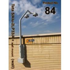 84 براکت تتا 5 آلومينيوم / دوبل ال ( ديوار / بام / دکل / حفاظت پيرامونی ) Teta 5/Alu-2L